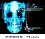 background with grunge design... | Shutterstock .eps vector #74503147