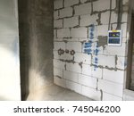 wall repair. renovation house.... | Shutterstock . vector #745046200