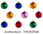 many multi colored glass... | Shutterstock . vector #745050568