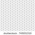 vector seamless pattern.... | Shutterstock .eps vector #745051510