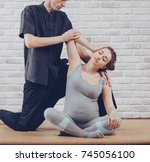 traditional thai massage of a