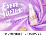 fabric softener 3d realistic... | Shutterstock .eps vector #745059718