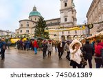 salzburg  austria   december 25 ... | Shutterstock . vector #745061389