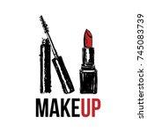makeup vector illustration of... | Shutterstock .eps vector #745083739
