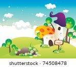 fantasy house vector | Shutterstock .eps vector #74508478