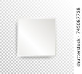 white paper stickers on... | Shutterstock .eps vector #745087738