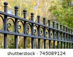 Beautiful Wrought Fence. Image...