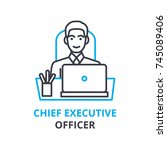 chief executive officer concept ... | Shutterstock .eps vector #745089406