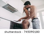 good morning  young romantic... | Shutterstock . vector #745090180