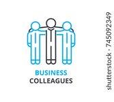 business colleagues concept  ... | Shutterstock .eps vector #745092349
