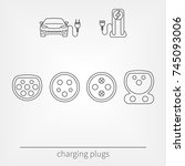 plug connector for charging... | Shutterstock .eps vector #745093006