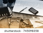 business accounting  | Shutterstock . vector #745098358