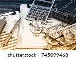business accounting  | Shutterstock . vector #745099468