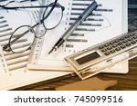 business accounting  | Shutterstock . vector #745099516