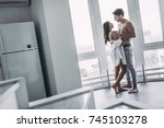good morning  young romantic... | Shutterstock . vector #745103278