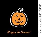 happy halloween. greeting card. ...   Shutterstock .eps vector #745103506