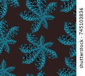 seamless floral pattern with... | Shutterstock .eps vector #745103836