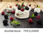 candy bar decorated by... | Shutterstock . vector #745113400