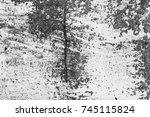 wall fragment with scratches... | Shutterstock . vector #745115824