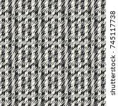 abstract hatching textured... | Shutterstock .eps vector #745117738