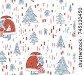 vector illustration. christmas... | Shutterstock .eps vector #745120450