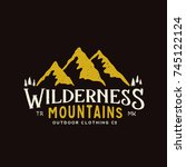 wilderness mountains outdoor... | Shutterstock . vector #745122124