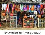 Street Market In Ghana. Woman...