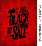black friday sale poster design ...   Shutterstock .eps vector #745130428