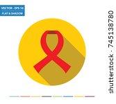 illness awareness ribbon flat... | Shutterstock .eps vector #745138780