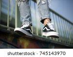 milan  italy   september 28 ...   Shutterstock . vector #745143970