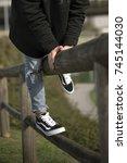 milan  italy   september 28 ... | Shutterstock . vector #745144030