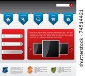advertising website template... | Shutterstock .eps vector #74514421