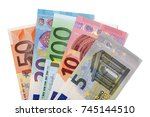 Various Euros Isolated