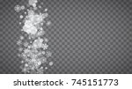 winter frame with white... | Shutterstock .eps vector #745151773