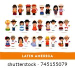 latin americans in national... | Shutterstock .eps vector #745155079