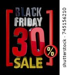 black friday sale xx   sales... | Shutterstock . vector #745156210