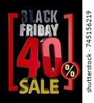 black friday sale xx   sales... | Shutterstock . vector #745156219