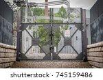 industrial power grid plant... | Shutterstock . vector #745159486