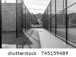 chain link fence sport active... | Shutterstock . vector #745159489