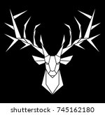vector design of deer's head | Shutterstock .eps vector #745162180