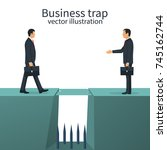 business trap concept. deceit... | Shutterstock .eps vector #745162744
