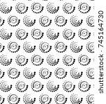 dots circle seamless vector... | Shutterstock .eps vector #745164730