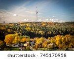 vilnius tv tower | Shutterstock . vector #745170958