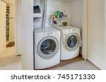 laundry room | Shutterstock . vector #745171330