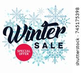 ultimate winter sale banner... | Shutterstock .eps vector #745175398
