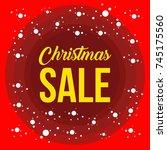ultimate christmas sale banner... | Shutterstock .eps vector #745175560