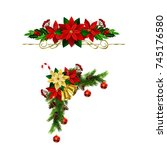 christmas elements for your... | Shutterstock .eps vector #745176580