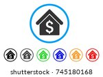 house rent rounded icon. style... | Shutterstock .eps vector #745180168