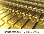 Stock photo stack close up gold bars weight of gold bars grams concept of wealth and reserve concept of 745182919