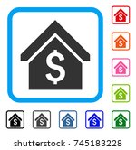 loan mortgage icon. flat grey... | Shutterstock .eps vector #745183228